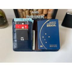 Porta Passaporte Dubai Azul